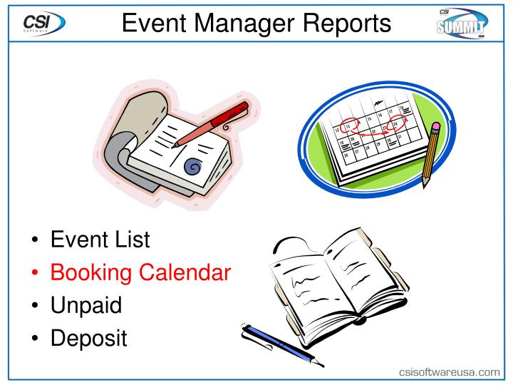 Event Manager Reports