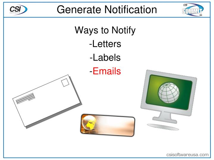 Generate Notification