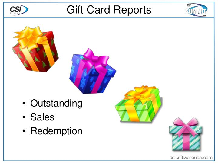 Gift Card Reports
