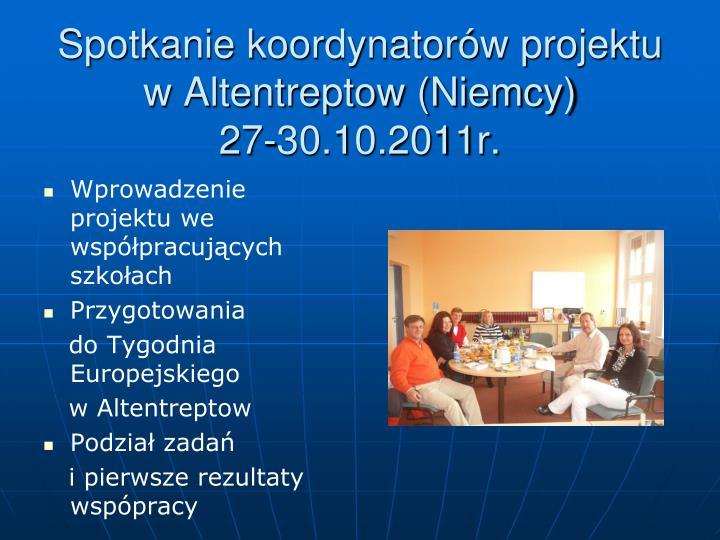Spotkanie koordynatorów projektu