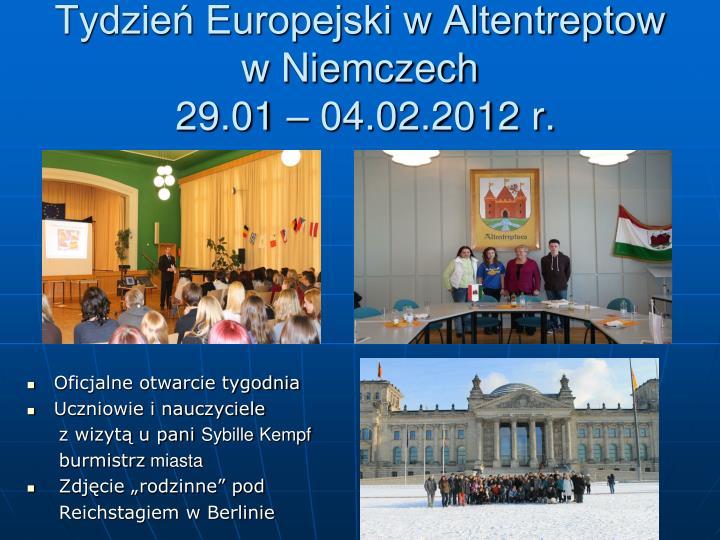 Tydzień Europejski w Altentreptow w Niemczech