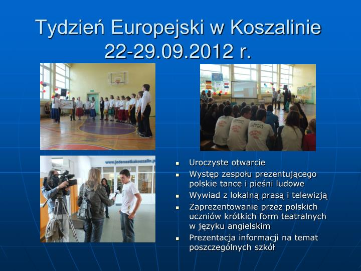 Tydzień Europejski w Koszalinie