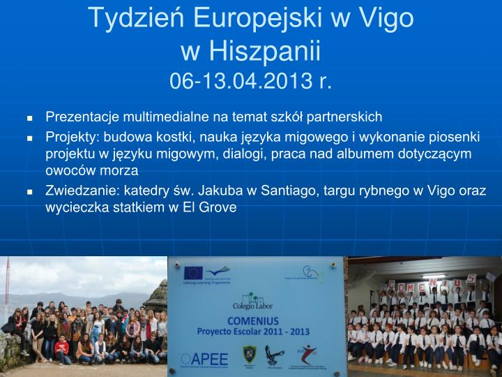 Tydzień Europejski w Vigo
