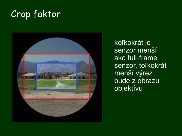 Crop faktor