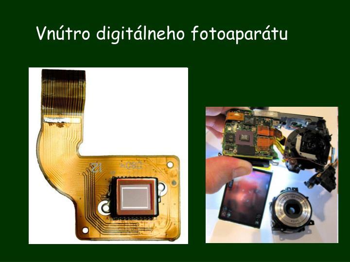 Vnútro digitálneho fotoaparátu