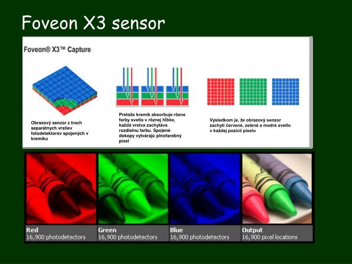 Foveon X3 sensor
