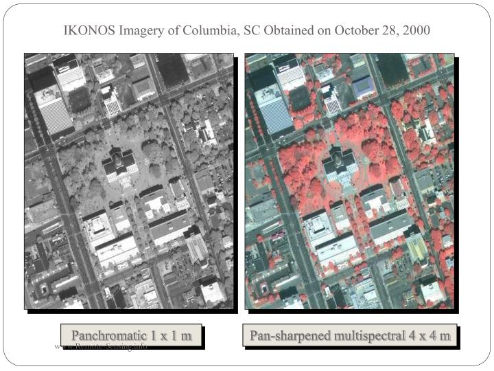 IKONOS Imagery of Columbia, SC Obtained on October 28, 2000