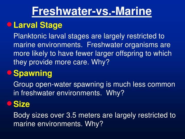 Freshwater-vs.-Marine