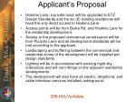 applicant s proposal1