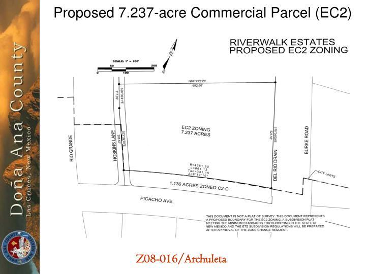 Proposed 7.237-acre Commercial Parcel (EC2)