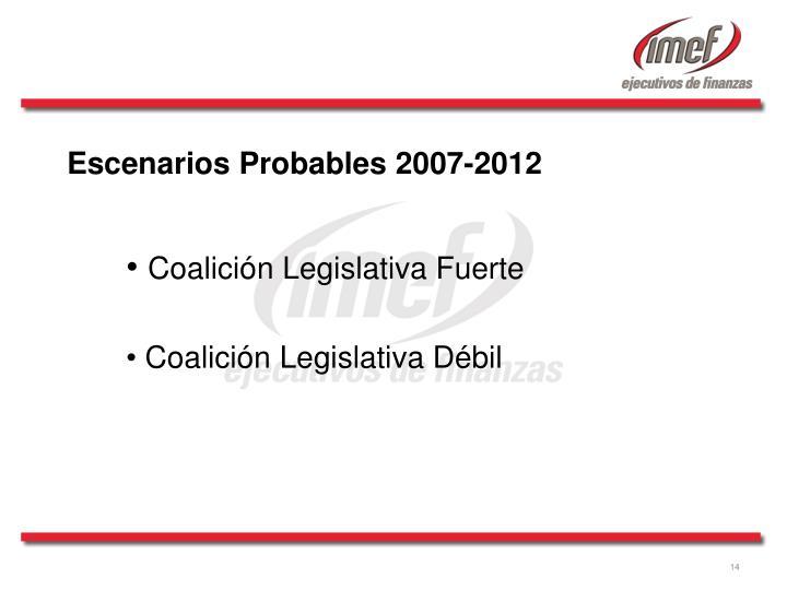 Escenarios Probables 2007-2012