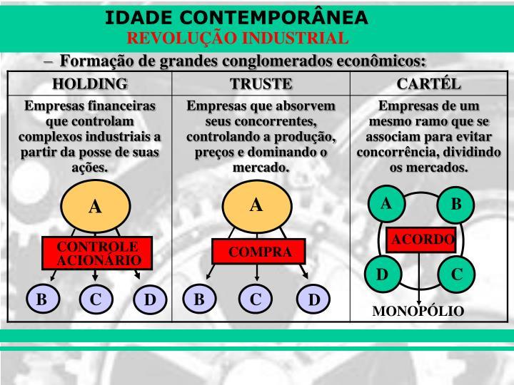 Formação de grandes conglomerados econômicos: