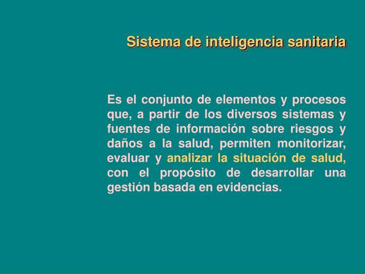 Sistema de inteligencia sanitaria