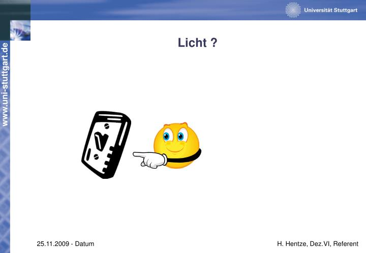 Licht ?