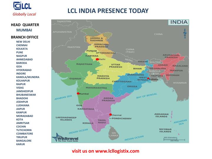 LCL INDIA PRESENCE TODAY
