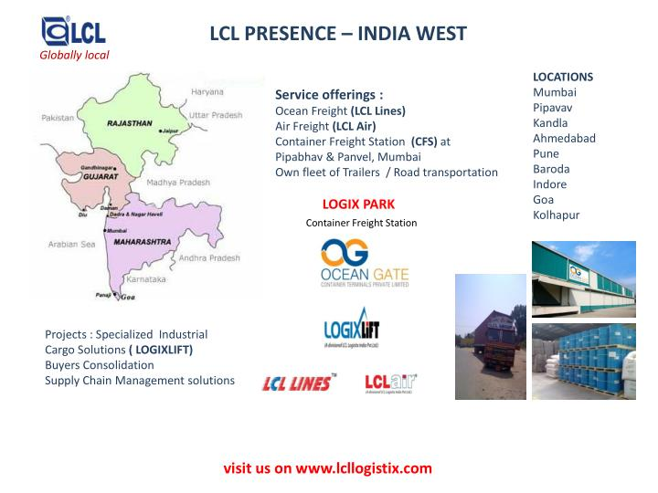 LCL PRESENCE – INDIA WEST
