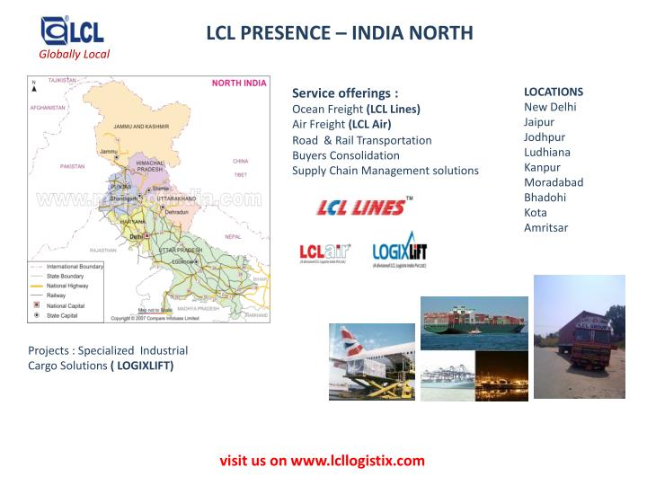 LCL PRESENCE – INDIA NORTH