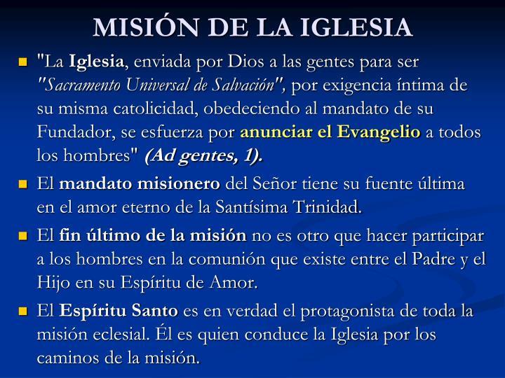 MISIÓN DE LA IGLESIA