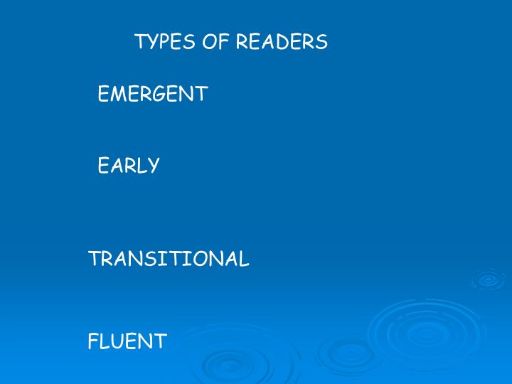 TYPES OF READERS