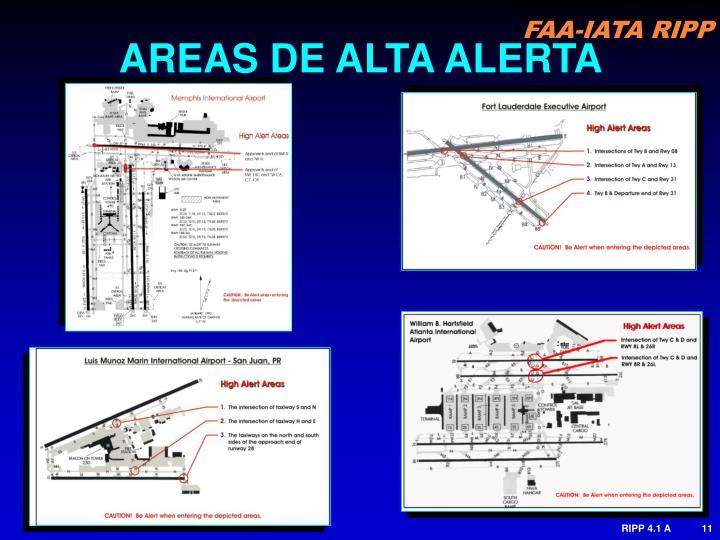 AREAS DE ALTA ALERTA