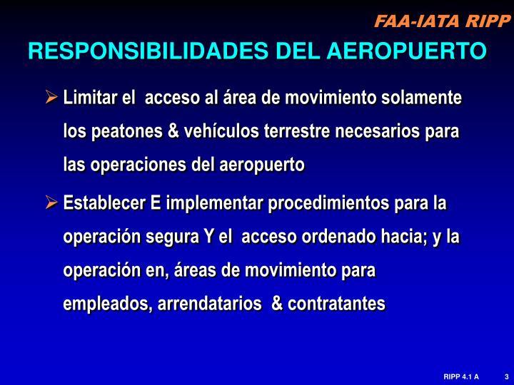 RESPONSIBILIDADES DEL AEROPUERTO