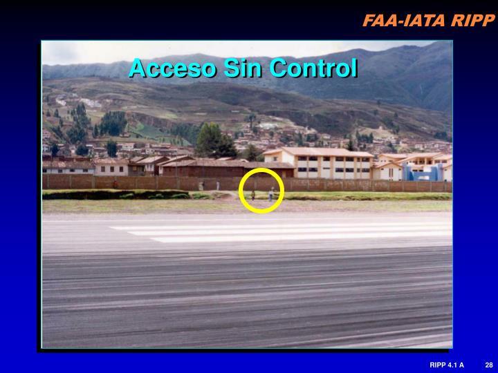 Acceso Sin Control