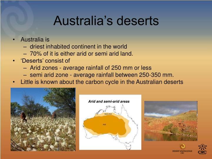 Australia's deserts