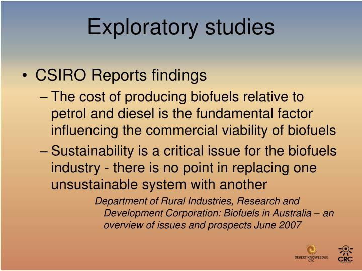 CSIRO Reports findings