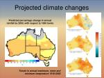 projected climate changes