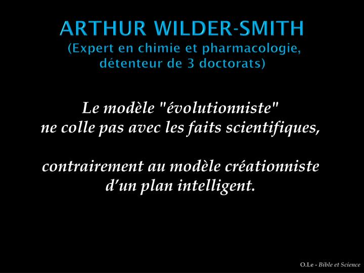 ARTHUR WILDER-SMITH