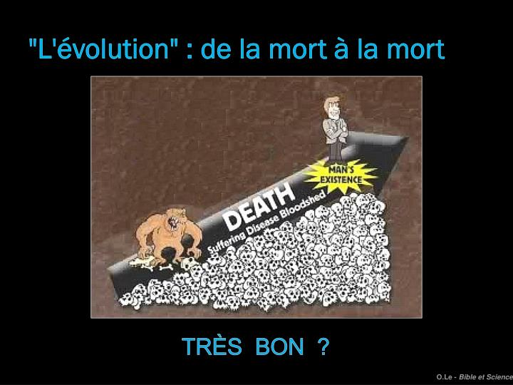 """""""L'évolution"""" : de la mort à la mort"""