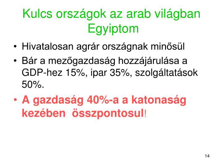 Kulcs országok az arab világban