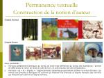 permanence textuelle construction de la notion d auteur1
