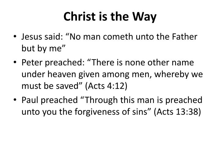 Christ is the Way