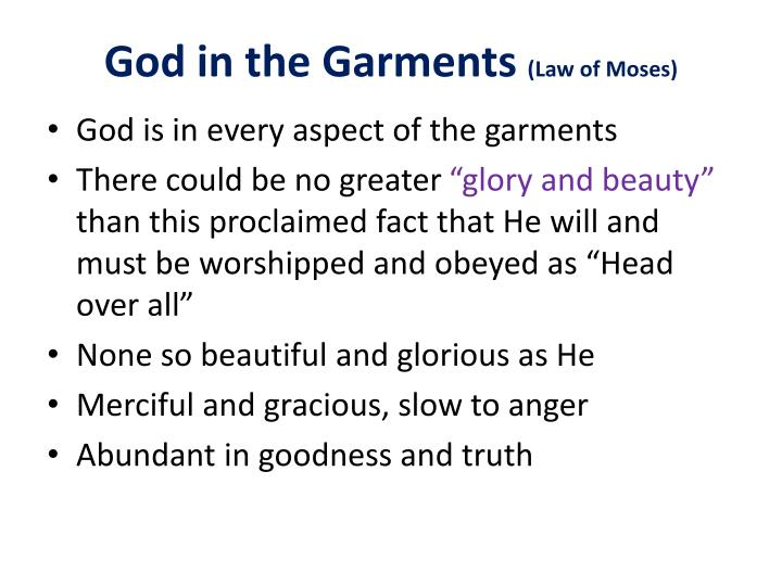 God in the Garments