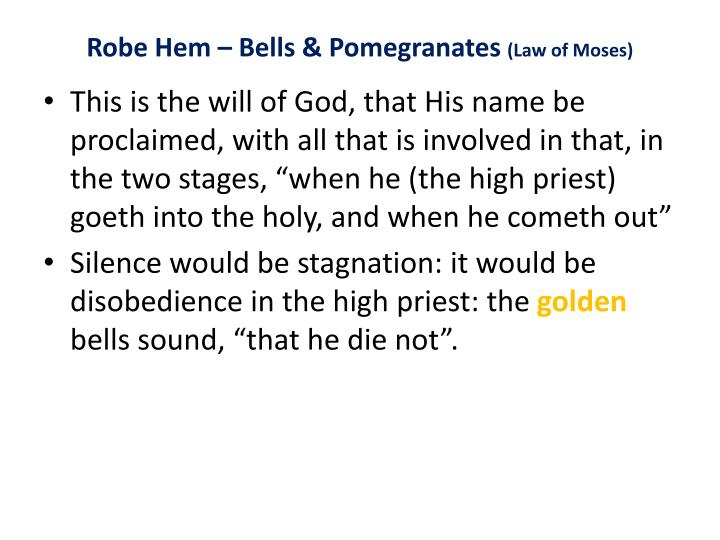 Robe Hem – Bells & Pomegranates