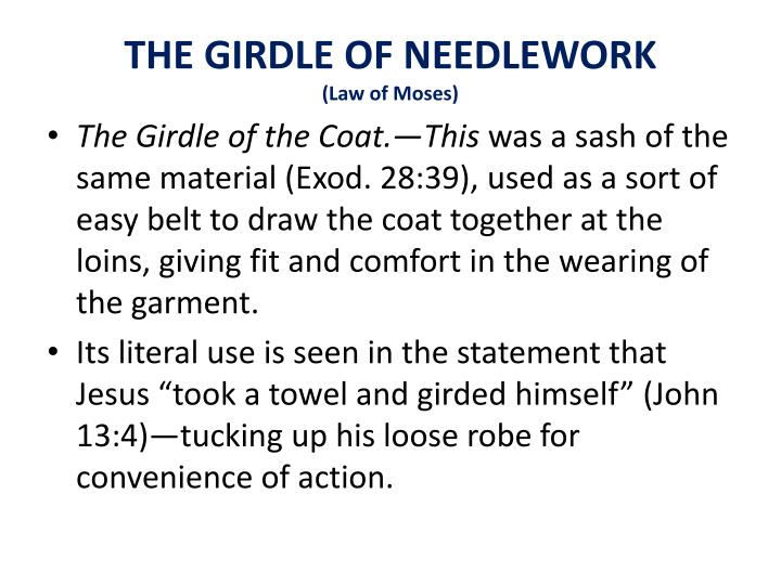 THE GIRDLE OF NEEDLEWORK