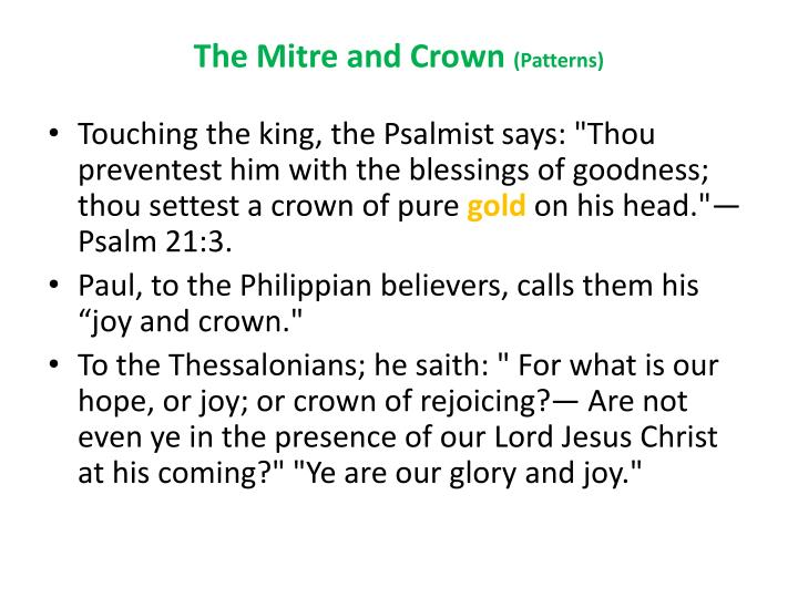 The Mitre and Crown