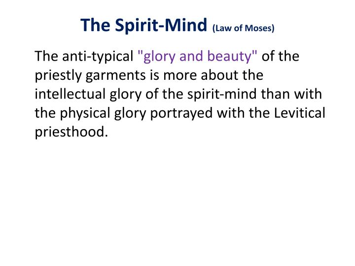 The Spirit-Mind