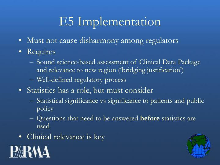 E5 Implementation
