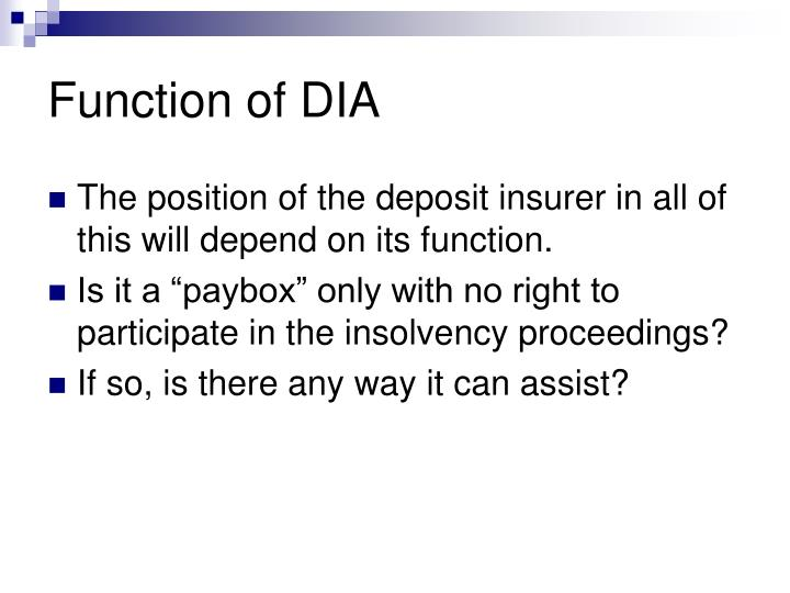 Function of DIA
