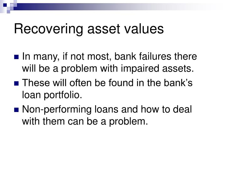 Recovering asset values