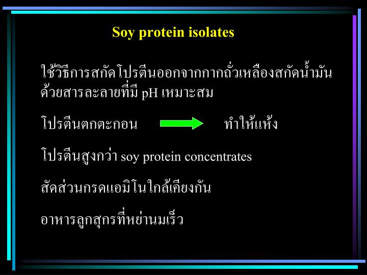 Soy protein isolates