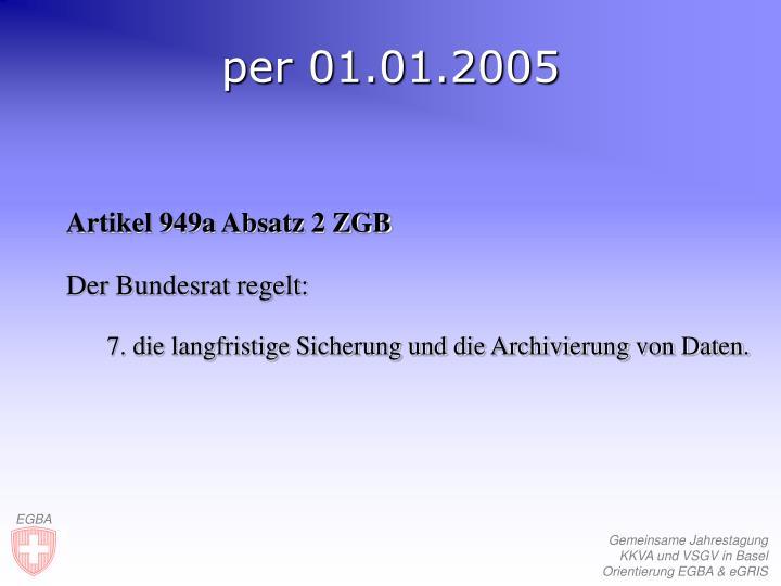 per 01.01.2005