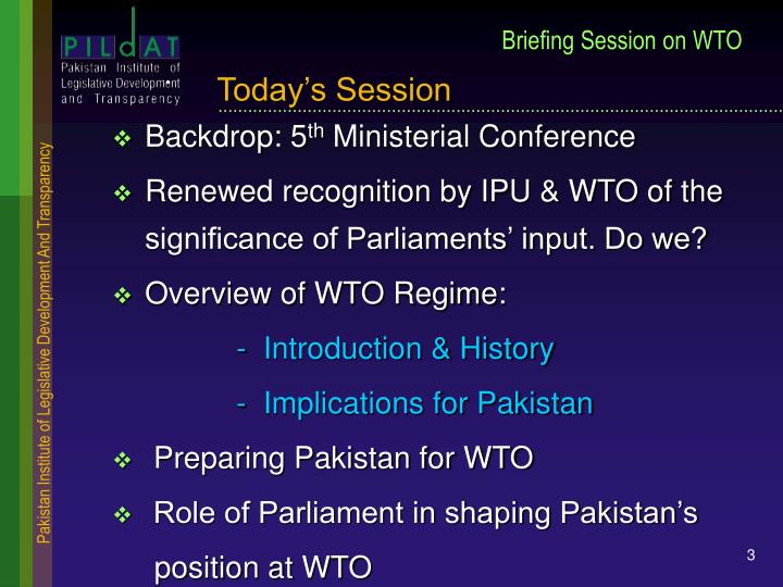 Briefing session on wto1