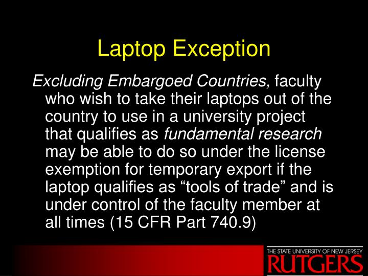 Laptop Exception