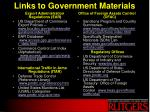 links to government materials