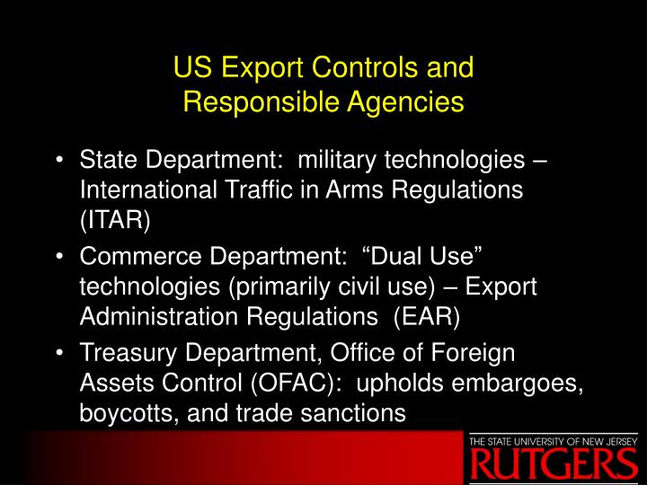 US Export Controls and