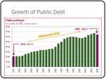 growth of public debt