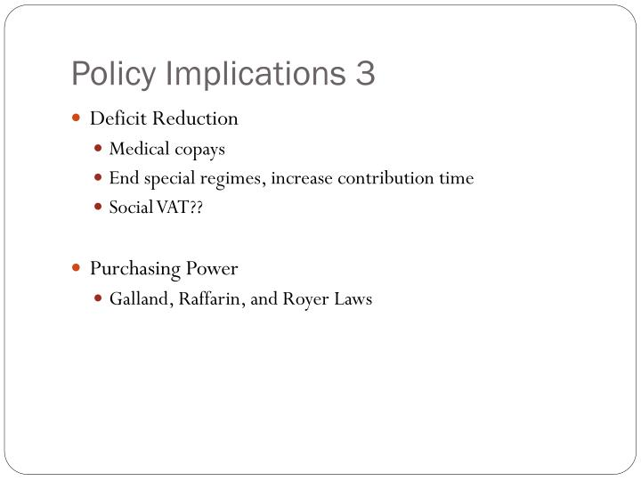 Policy Implications 3